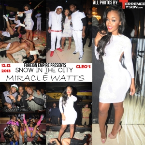 Photos miracle watts hosts foreign empire s snow in the city cleo